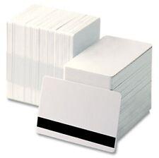 Blank blanc hi-co en plastique pvc cartes d'identité CR80 - 760 micron Qté's 10-1000 FREE P&P