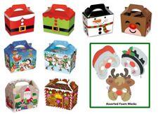 INFANTIL NAVIDAD Comida Comida cajas con Diversión Navidad ANTIFAZ