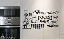 Vinilo decorativo #456#  BON APPÉTIT 3 sticker paredes cocina  wall pegatinas