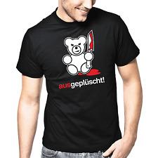 ausgeplüscht | Bad Teddy | Messer | Fun | Sprüche | Party | S-XXL T-Shirt