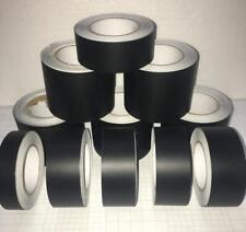 Adhesive Metallic Matte Flat Black Vinyl Tape , Automotive Grade Car Wrap Film