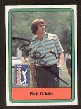 Bob Gilder signed autograph 1982 Donruss Golf Card