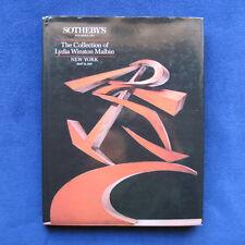 ART COLLECTION OF LYDIA WINSTON MALBIN - Modern Art Auction Catalogue Hardbound