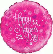 Joyeux fête des Mères Rose 45.7cm Film Ballon en aluminium fête fleurs coeurs