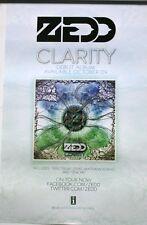 ZEDD Clarity DOUBLE SIDED RARE PROMO POSTER 14x22 2012