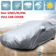 S-XXL Waterproof Car Cover Protector Scratch Outdoor Dust Sun Rain UV Resistant