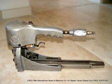 USED ISM International Staple & Machine Co. Air Stapler Tacker Gun FREE SHIPPING