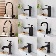 Black Kitchen Sink Pull Out Spout Bathroom Basin ORB Mixer Faucet Singl Hole Tap