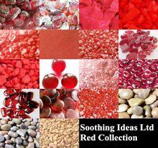 Red Glass Pebbles,Stones,Quartz,Mirror & Sand Home Garden Wedding Craft Memorial