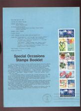 #2267-74  22c Special Occasions USPS#8713 Souvenir Page