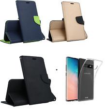 KIT N 2 per SAMSUNG Galaxy S10 G973 Custodia LIBRO STAND + Cover GEL tpu OMAGGIO