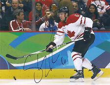 Shea WEBER Signed 2010 Olympics 8x10 Photo CANADA
