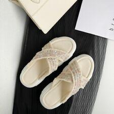 Summer Women Comfort Slipper Shoes Home Travel Walking Open Toe Sandals Flats Sz