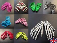 2 x Skeleton Claw Hand Bone Hair Clip Pin Grip Slide Zombie Rockabilly Halloween