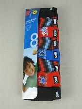 Rio Boys 8 Pack Soft Breathable Cotton Briefs Underwear sizes 8 10 12 14 Multi
