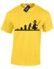 EVOLUZIONE LEGO DARTH Da Uomo T Shirt Lato Oscuro della Forza Jedi Film Ispirato Da Uomo