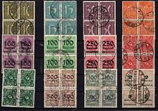 Lot 4er Blocks  o   Infla  ( 20266-o1 )