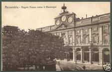 ALESSANDRIA CITTÀ 43 MUNICIPIO Cartolina viaggiata 1912