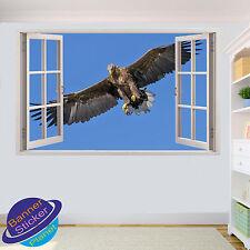 Cielo Azul Águila Volando 3D Pared Adhesivo Mural Calcomanía Decoración para Habitación Oficina Tienda YA3