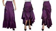 Three Way Lace Up Renaissance Skirt Purple Gothic Victorian Steampunk Punk