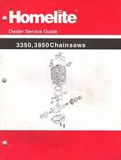 Homelite 3350,3850 Chain Saws Dealer Service Guide