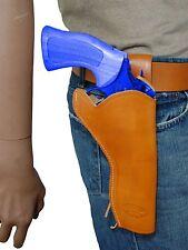"NEW Barsony Saddle Tan Leather 49-er Style Gun Holster for Colt 6"" Revolvers"