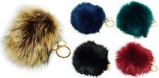Woman's Bag Pompom Keyring 16cm XL Fake Fur Charm Clothes Pendant Key Chain