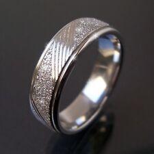 Ring Edelstahl Damenring Fingerring Glitzer Band Edelstahlring Partnerringe VR5