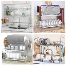 1/2/3 Tier Dish Drying Rack Cutlery Holder Storage Chopstick Holder for Kitchen