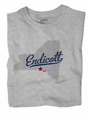Endicott New York NY T-Shirt MAP
