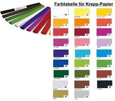 Krepp-Papier Krepp Bastelkrepp 50 x 250cm 32 g/m² 10er in einer Farbe UNI