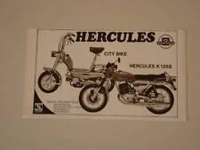 advertising Pubblicità 1976 HERCULES K 125 S/CITY BIKE