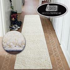 Modern Halle Runner Soft Shaggy Carpet 5cm Cream Width 50 - 200 cm Long