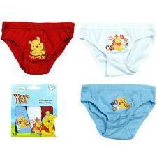 Unterwäsche Jungen Slip Schlüpfer Winnie Pooh 3er Pack 92-98 104-110 116-122#195