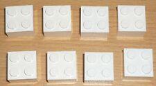 Lego 8 Basic Steine 2 x 2 in weiß