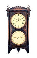 "50""H Seth Thomas Double Dial Office Perpetual Calendar No 5 Regulator Wall Clock"