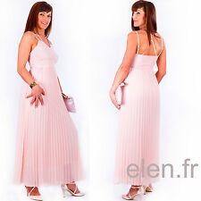 ☼ELEN☼ Robe longue PINK BOOM rose pâle - Ref: 7252