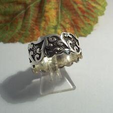 Bandring Ring Silber 925 Trible Tattoo Ornamente  Gothic Celtic Keltisch Biker