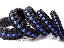 Paracord Armband-Thin Blue Line-5 versch. Breiten-Polizei Armband-Handmade