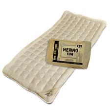 Merino Schurwolle Unterbett mit kbA Baumwoll Bezug kbT Wolle Matratzenauflage