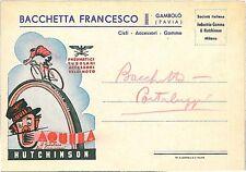 CARTOLINA d'Epoca: PAVIA città: ILLUSTRATA PUBBLICITARIA BICICLETTE