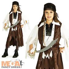 Caribbean Pirate Queen Girls Fancy Dress Book Week Kids Childs Costume Outfit