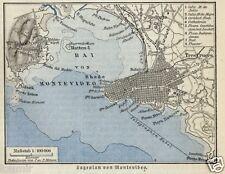 1883= MONTEVIDEO= URUGUAY= Antica Mappa=Topographic MAP