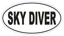 SKY DIVER Oval Bumper Sticker or Helmet Sticker D1867 Euro Oval