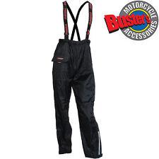 Mens Motorcycle Trousers Waterproof Motorbike Pants With Braces Black Textile