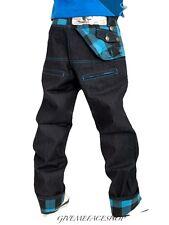 Il denaro sporco jeans, il tempo è blu a quadri URBAN DENIM HipHop G Designer denaro PANTS