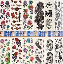 Tattoo Tatoo Bodyart Schmuck Adler Drache Rose Herz Schmetterling Tiger Skorpion