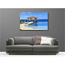 Tableaux toile déco rectangle terrasse bord de mer 95562337