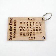 Personalisiert Holz Frei halten the Date Schlüsselbunde. Hochzeitseinladung