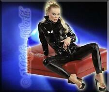 Dessous - Latex Overall / Catsuit mit Zip schwarz